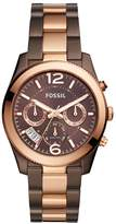 Fossil Women's 'Perfect Boyfriend' Quartz Stainless Steel Casual Watch, Color:Brown (Model: ES4284)