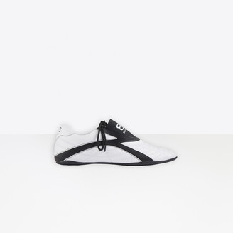 Balenciaga Zen Sneaker in white and black matt technical polyurethane