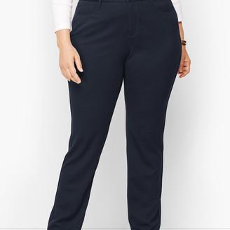 Talbots Plus Size High-Rise Straight-Leg Pants - Ponte
