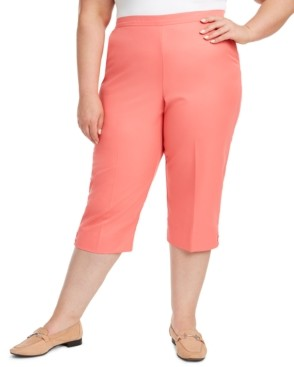 Alfred Dunner Plus Size Miami Beach Pull-On Capris
