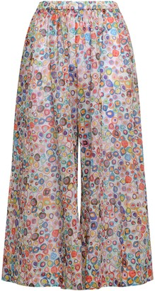 Missoni Mare Printed Cotton Wide-leg Pants