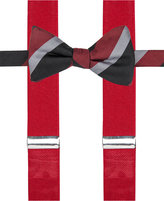 Alfani Men's Mars Stripe Bow Tie & Suspender Set, Only at Macy's