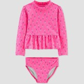 Carter's Just One You Made By Toddler Girls' Flamingo Swim Rash Guard Set - Just One You® made by Pink