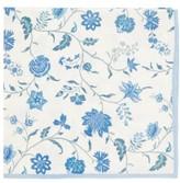 D'Ascoli Set Of Four Calico Floral-print Napkins - Blue Multi