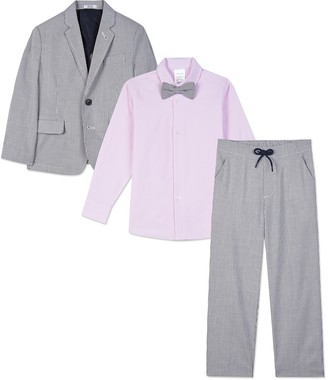 Calvin Klein Railroad Stripe 4-Piece Suit Set (Little Boys)
