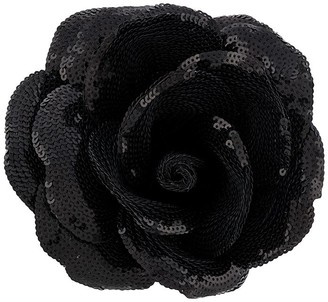 Saint Laurent Sequin-Embellished Rose Brooch