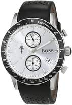 HUGO BOSS Men's 1513403 Black Leather Analog Quartz Watch