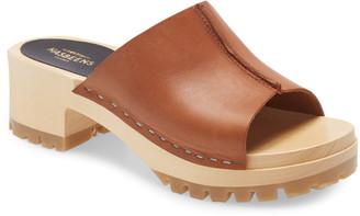 Swedish Hasbeens Ann Platform Slide Sandal