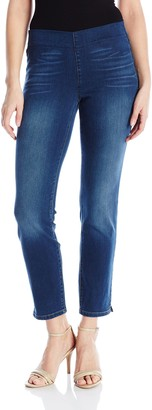 NYDJ Women's Petite Size Alina Pull on Skinny Ankle Jeans in Future Fit Denim