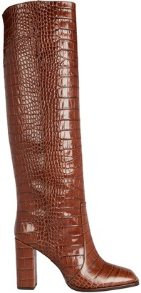Paris Texas Moc Croco Knee-High Boots