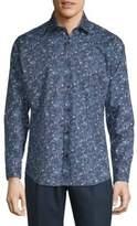 Jared Lang Printed Casual Button-Down Shirt