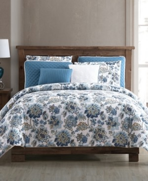Hallmart Collectibles Vina 8-Pc. Floral Queen Comforter and Quilt Set Bedding