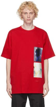 Juun.J Red Logo Graphics T-Shirt