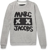 Marc Jacobs Printed Mélange Loopback Cotton and Silk-Blend Jersey Sweatshirt