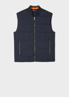Men's Dark Navy Wadded Gilet
