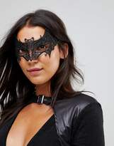 Leg Avenue Vampire Bat Venetian Lace Applique Halloween Eye Mask