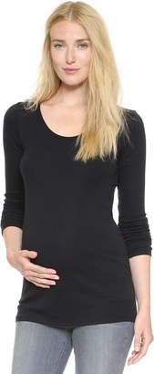 Ingrid & Isabel Long Sleeve Maternity Scoop Tee
