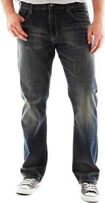 Lee Men's Big & Tall Modern Series Custom Fit Relaxed Straight Leg Jean