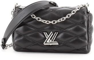 Louis Vuitton GO-14 Handbag Malletage Leather Mini