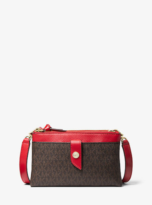 Michael Kors Medium Logo Double-Zip Crossbody Bag