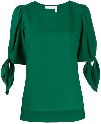 See by Chloe Short Sleeve Tied Sleeve Top