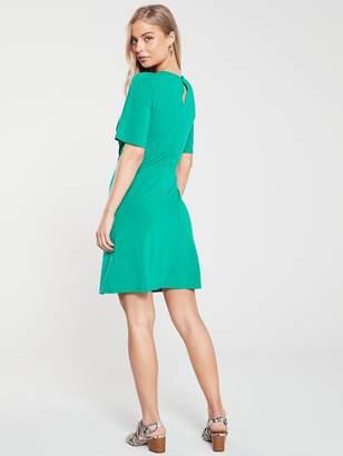Very Knot Waist Jersey Dress - Green