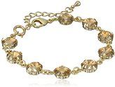 Swarovski Oroclone Crystal Luxe Emerald Cut Golden Shadow Bracelet