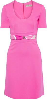 Emilio Pucci Belted Ponte Mini Dress