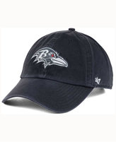 '47 Baltimore Ravens Charcoal White Clean Up Cap