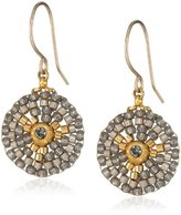 Miguel Ases Small Round Soft Pewter Drop Earrings