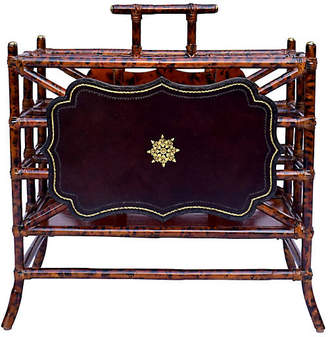 One Kings Lane Vintage Maitland Smith Faux Bamboo Magazine Rack - Cannery Row Home
