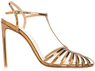 Francesco Russo pointed strappy pumps