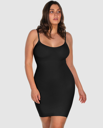 B Free Intimate Apparel - Women's Black Shapewear - Curvy Ultra Light Shaping Cami Slip - Size One Size, S/M at The Iconic