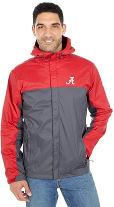 Columbia College Alabama Crimson Tide Glennaker Stormtm Jacket (Red Velvet/Dark Grey) Men's Clothing