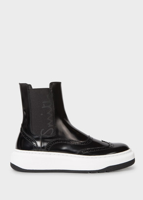 Paul Smith Women's Black Leather 'Lambeth' Chelsea Boots