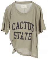 Current Elliott Cactus State Tie-Hem Distressed Tee