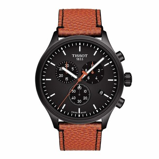 Tissot Men's NBA Special Edition Stainless Steel Swiss Quartz Sport Watch with Spalding Leather Strap