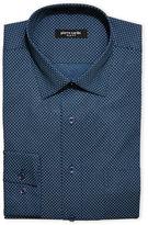 Pierre Cardin Blue Geoprint Slim Dress Shirt