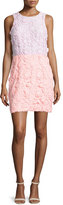 Cynthia Rowley Sleeveless Colorblock Lace Dress, Soft Pink Coral