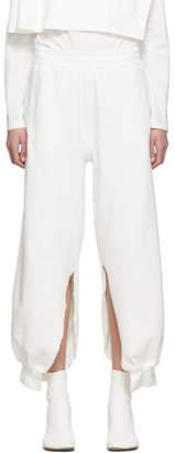 MM6 MAISON MARGIELA SSENSE Exclusive White Split Lounge Pants