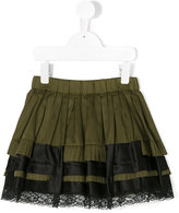 Diesel layered lace trim skirt
