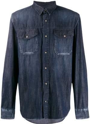 Frankie Morello dark denim pocket shirt