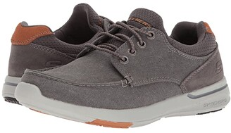 Skechers Relaxed Fit: Elent - Mosen (Black) Men's Lace up casual Shoes