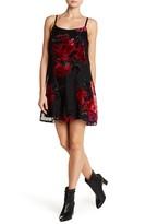 As U Wish Burnout Velvet Slip Mini Dress