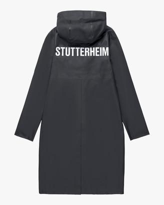 Stutterheim Stockholm Long Logo Raincoat