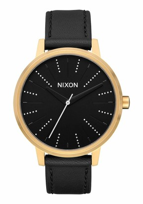 Nixon Women's Stainless Steel Quartz Watch with Leather Strap