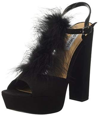 Steve Madden Women's Tricia Open Toe Heels, (Black 001), 8.5 UK