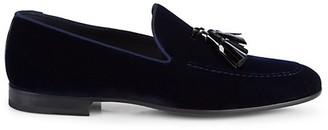 Magnanni Tassel Velvet Loafers