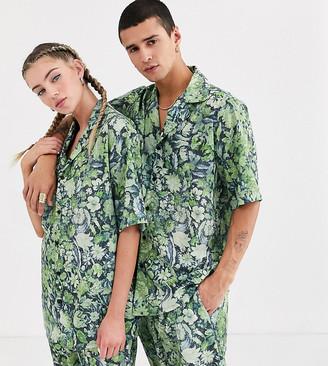 Reclaimed Vintage unisex floral shirt co-ord