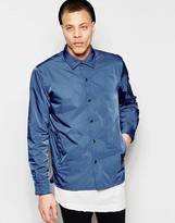 Cheap Monday Coach Jacket Shell Nylon In Blue